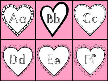 Alphabet Recognition and Sound Game - Valentine's Day