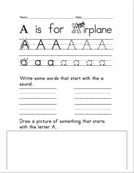 Alphabet Recognition and Sound Practice Worksheets