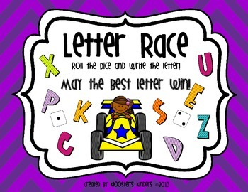 Alphabet Recognition and Writing Practice - Letter Race and Dice Game