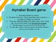 Alphabet Recognition board game 11x17