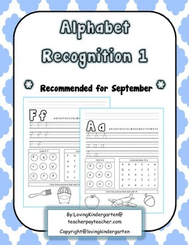 Alphabet Recognition for Kindergarten
