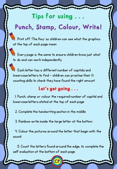 Alphabet Recognition: n to z - Punch, Stamp, Colour, Write!