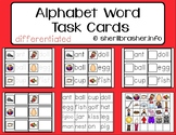 Alphabet Recognition with Words Task Cards