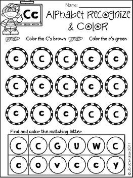 Alphabet Recognize & Color