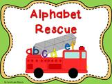 Alphabet Rescue! {Alphabet Literacy Station Activities 3}