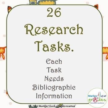 Research Project Activities and Worksheets  X 26 - Set 2