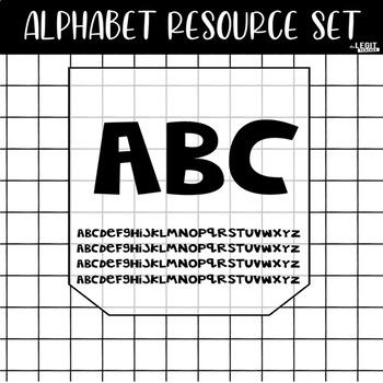 Alphabet Resource Set {Alphabet Book Included}