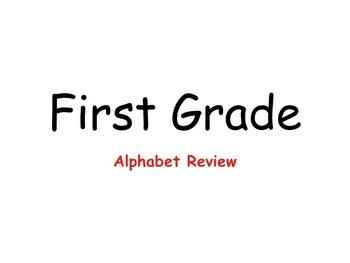 Alphabet Review