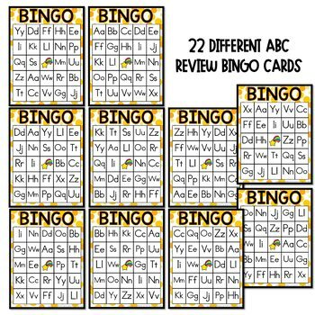 Alphabet Review Activities for PreK and Kinder with Letter BINGO cards and more