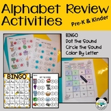 Alphabet Review Activities for PreK and Kinder with Letter