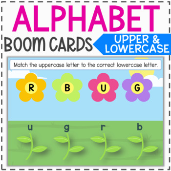 Alphabet Review Boom Cards - Uppercase and Lowercase Letters