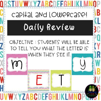 Alphabet Review Capital and Lowercase letters!