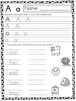 Alphabet Review Pack Freebie