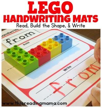 Lego teaching resources teachers pay teachers duplo and lego handwriting mats duplo and lego handwriting mats fandeluxe Gallery