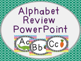 Alphabet Review PowerPoint in Rainbow