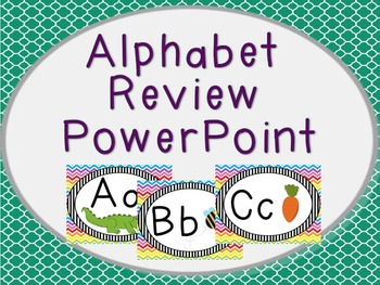 Alphabet Review PowerPoint in Red