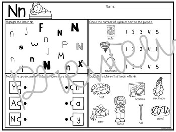 Alphabet Review for First Grade