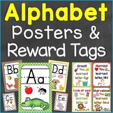 Alphabet Reward Tags & Alphabet Posters Bundle Set