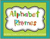 Alphabet Rhymes:  Beginning Sound and Letter Formation