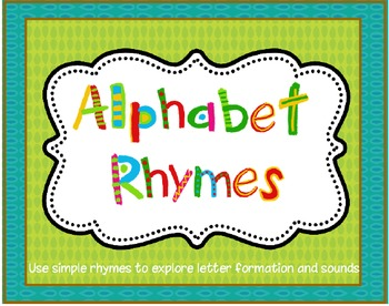 alphabet rhymes beginning sound and letter formation
