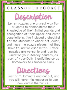 Alphabet Ring Letter Puzzles