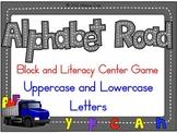 Alphabet Road Block/Literacy Center Game:  Uppercase/Lower