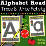 Alphabet Road Letter Mats: Trace, Write, and Phonics