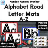 Alphabet Road Letter Mats, letter formation, fine motor, J