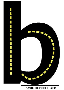 Alphabet Road Lowercase Letter Set