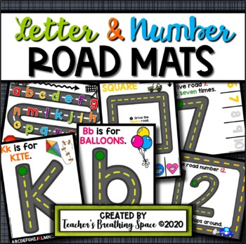 Alphabet Road Mats --- Road Tracing Mats for Letters & Numbers 1-20
