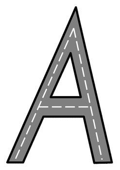 Alphabet Road Races - Upper case