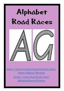 Alphabet Road Races - Upper case