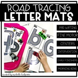 Alphabet Activities | Road Tracing Letter Mats | Fine Moto