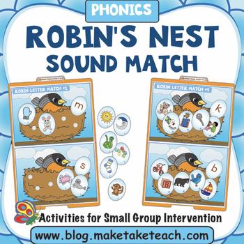 Alphabet - Robin's Nest File Folder Sound Match