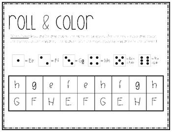 Alphabet Roll & Cover (FREEBIE)