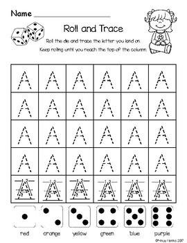 Alphabet Roll-N-Trace