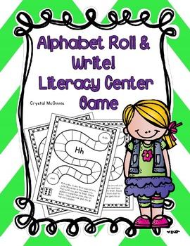 Alphabet Roll & Write Literacy Center Game