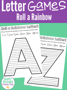 Alphabet Roll a Rainbow: Letter of the Week