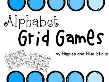 Alphabet Roll and Cover Grid Games