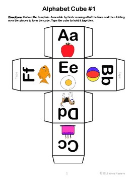 Alphabet Roll and Graph