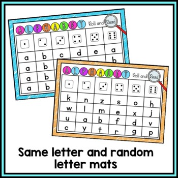 Alphabet Recognition Activity - Roll and Read Letters {Editable}