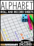 Alphabet Roll and Record Sheets