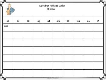 Alphabet Roll and Write