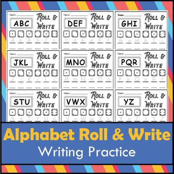 Alphabet Roll and Write Writing Practice Package