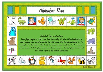 Alphabet Run Board Game