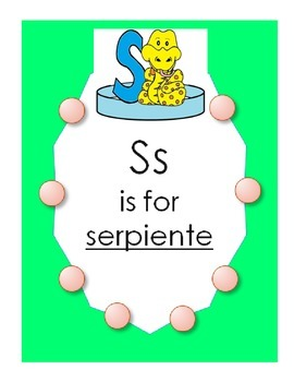 "Alphabet ""S is for Serpiente"" Spanish hat patterns (5 versions)"