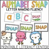 Alphabet SNAP Letter Naming Fluency Game UPPERCASE LOWERCASE Literacy Center