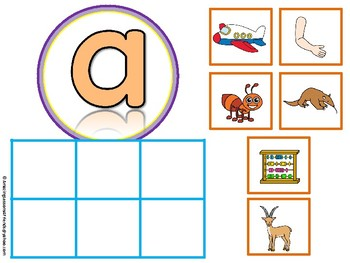 Alphabet SORT Mats and Cards Lowercase