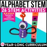 Alphabet STEM Challenges | Kindergarten STEM Challenges | ABC Stations