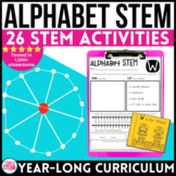 Kindergarten STEM Activities | Alphabet STEM